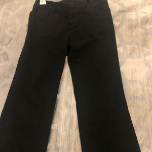 Black ankle length pants